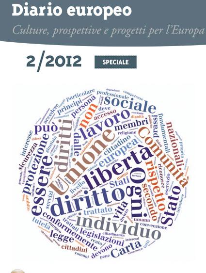 """Disponibile on line il numero speciale di """"Diario Europeo"""" dedicato alla Carta dei diritti fondamentali dell'UE"""