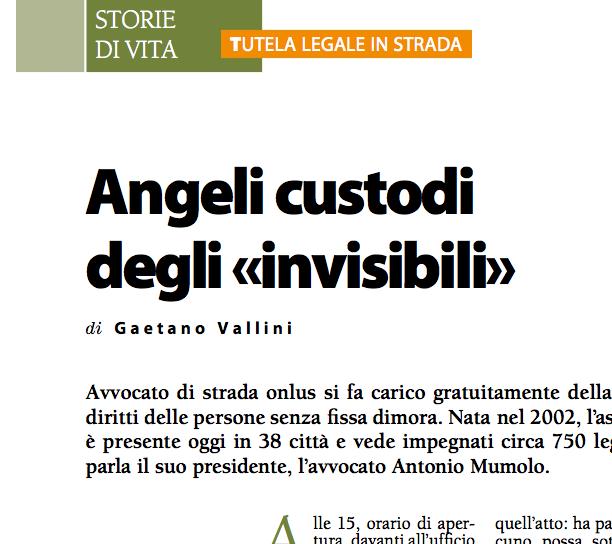 """Messaggero di Sant'Antonio: """"Angeli custodi degli «invisibili»"""""""