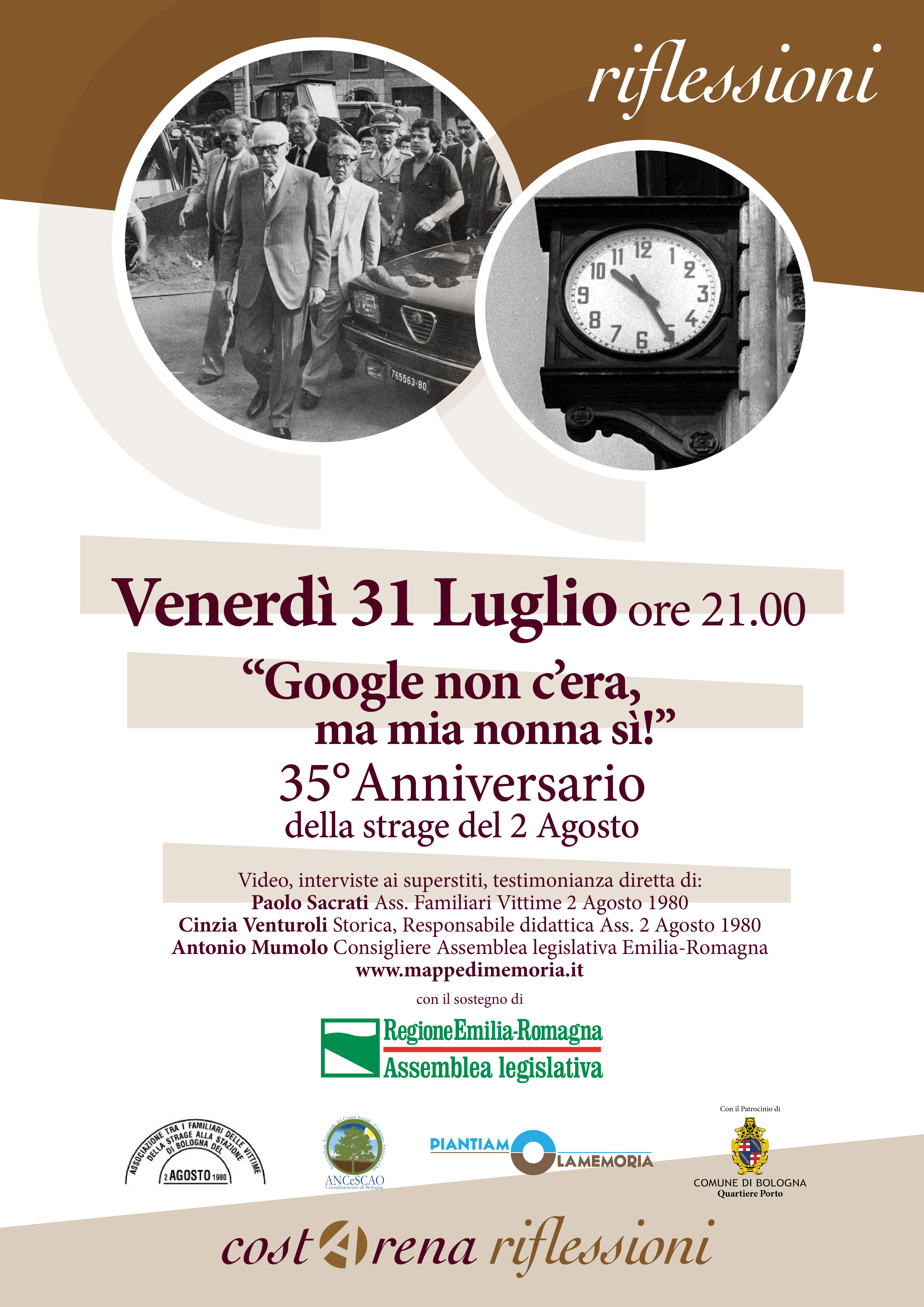 """35° Anniversario Strage Bologna """"Google non c'era, ma mia nonna si!"""""""