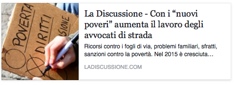 "Intervista al quotidiano ""La discussione"""