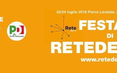 22/24 luglio, Albinea, Festa nazionale di ReteDem