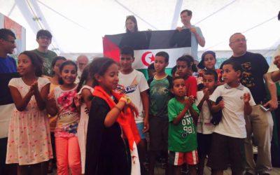 Foto. Con i bimbi Saharawi ai Mondiali Antirazzisti