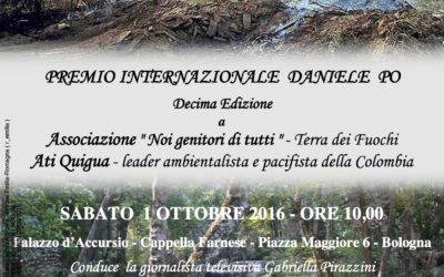 """Premio internazionale """"Daniele Po"""" 2016"""
