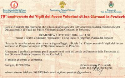 170° Anniversario Vigili del Fuoco San Giovanni in Persiceto
