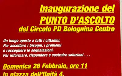 Inaugurazione punto d'ascolto Bolognina