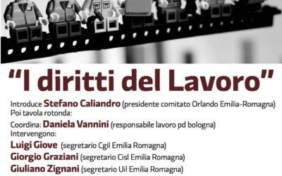 """29.04.17 A Bologna l'incontro """"I diritti del lavoro"""""""