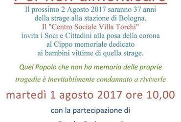 A Villa Torchi per la commemorazione della Strage di Bologna