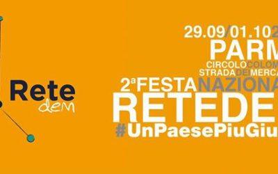 """""""Un Paese più giusto"""". A Parma la 2^ Festa Nazionale di ReteDem"""