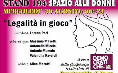 """30.08.17 Festa Unità Bologna: """"Legalità in gioco"""""""