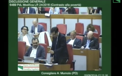Welfare. Sì al reddito minimo in Emilia-Romagna. Il mio intervento in Aula