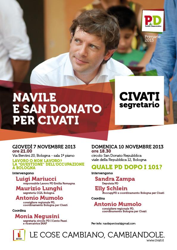 """10.11.13 Iniziativa pubblica """"Quale PD dopo i 101"""""""