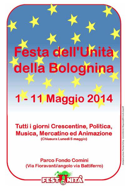 """09.05.14 Festa Unità Bolognina """"LegalMente: lotta alle infiltrazioni mafiose in Emilia-Romagna"""""""