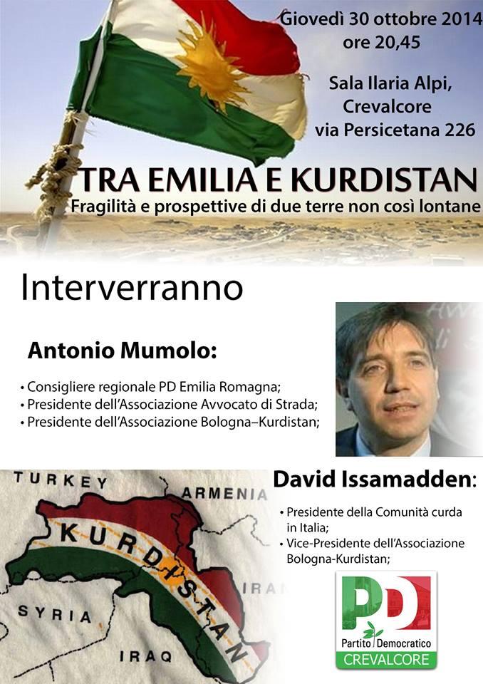 "30.11.14  Crevalcore: ""Tra Emilia e Kurdistan"""