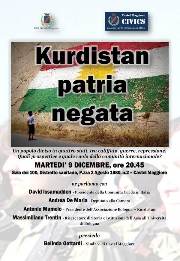 """09.12.14 Castel Maggiore: """"Kurdistan patria negata"""""""