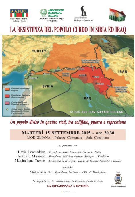 """15.09.15 Modigliana (FC): """"La resistenza del popolo curdo in Siria ed Iraq"""""""