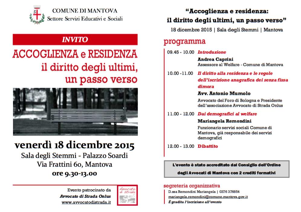 18.12.15 A Mantova un confronto sui diritti degli ultimi