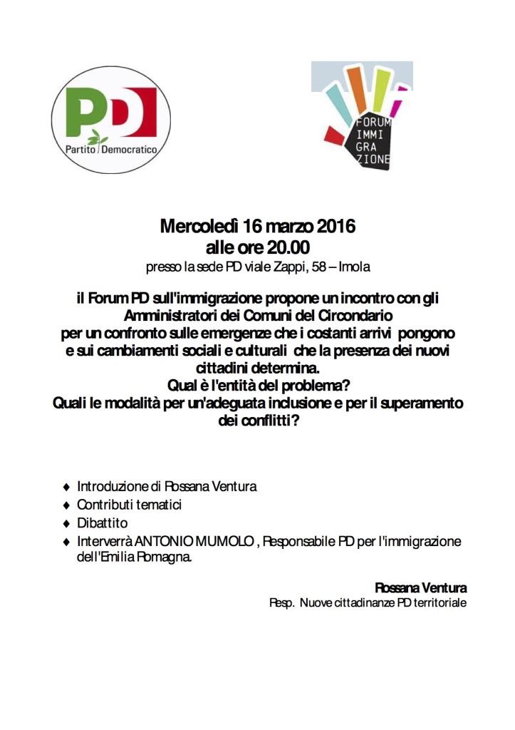 forum imm 16 marzo
