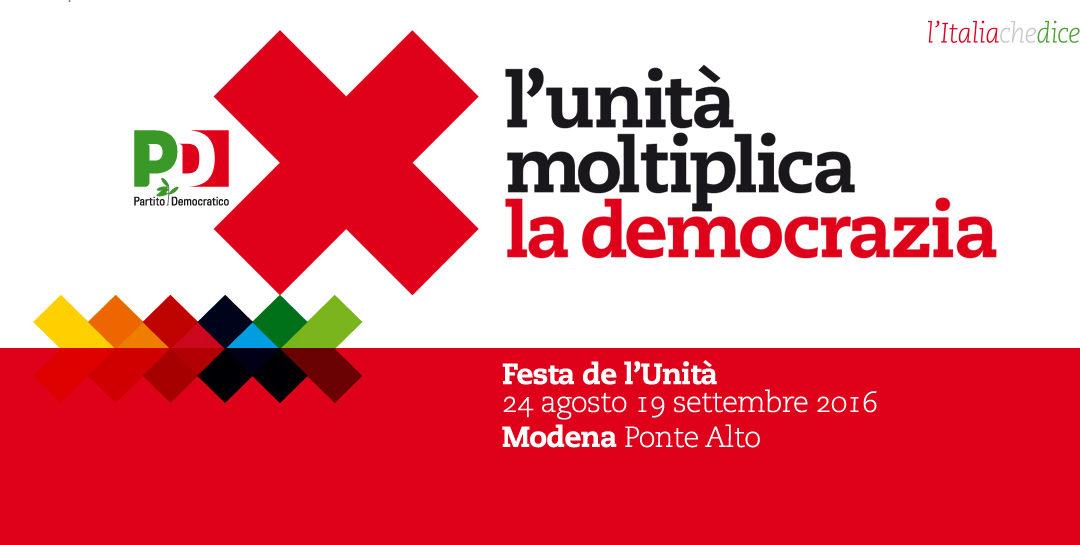 """08.09.16, Festa Unità Modena: """"Moltiplica la legalità"""""""