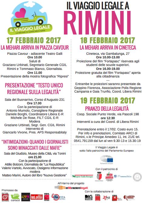 Il viaggio legale fa tappa a Rimini
