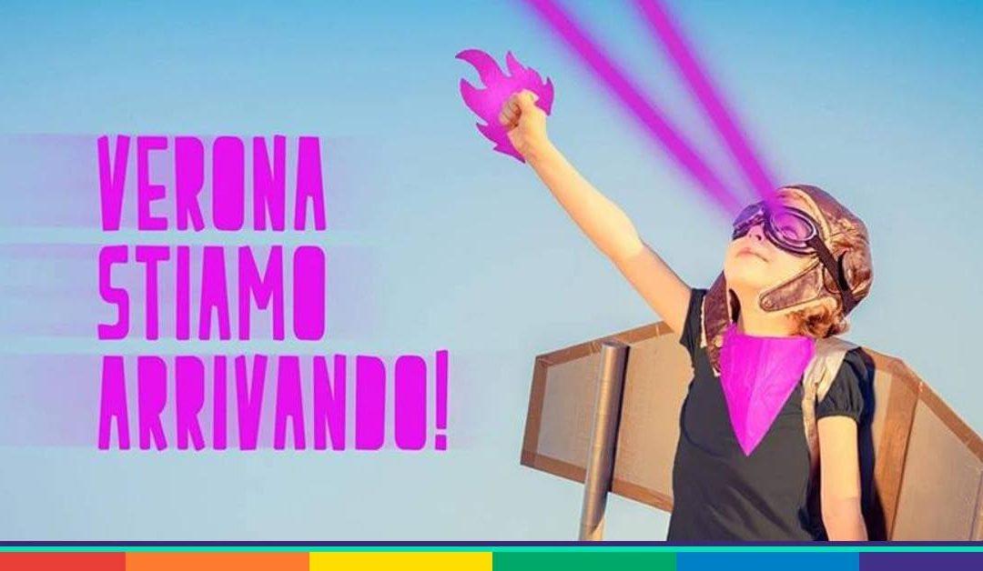 A Verona una manifestazione colorata, aperta e plurale. Come tutti noi.