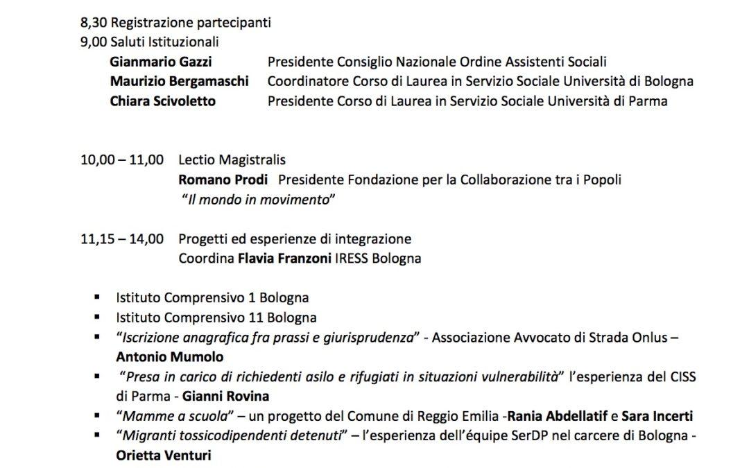 """Giornata formativa """"Flussi migratori ed esperienze di integrazione in Emilia Romagna"""""""