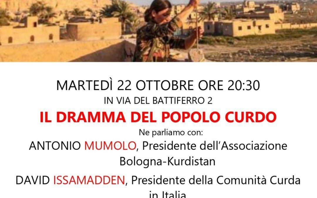 """22.10.19 """"Il dramma del popolo curdo"""""""