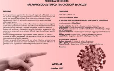 Medicina di genere: un approccio sistemico tra cronicità ed acuzie